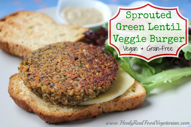 ... Green Lentil Burger (vegan, grain-free) from Gluten-Free Vegetarian