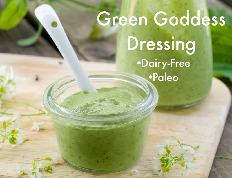 Green goddess dressing dip dairy free