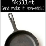 [VIDEO] How to Get your Cast Iron Skillet to be Non-stick… Season It!