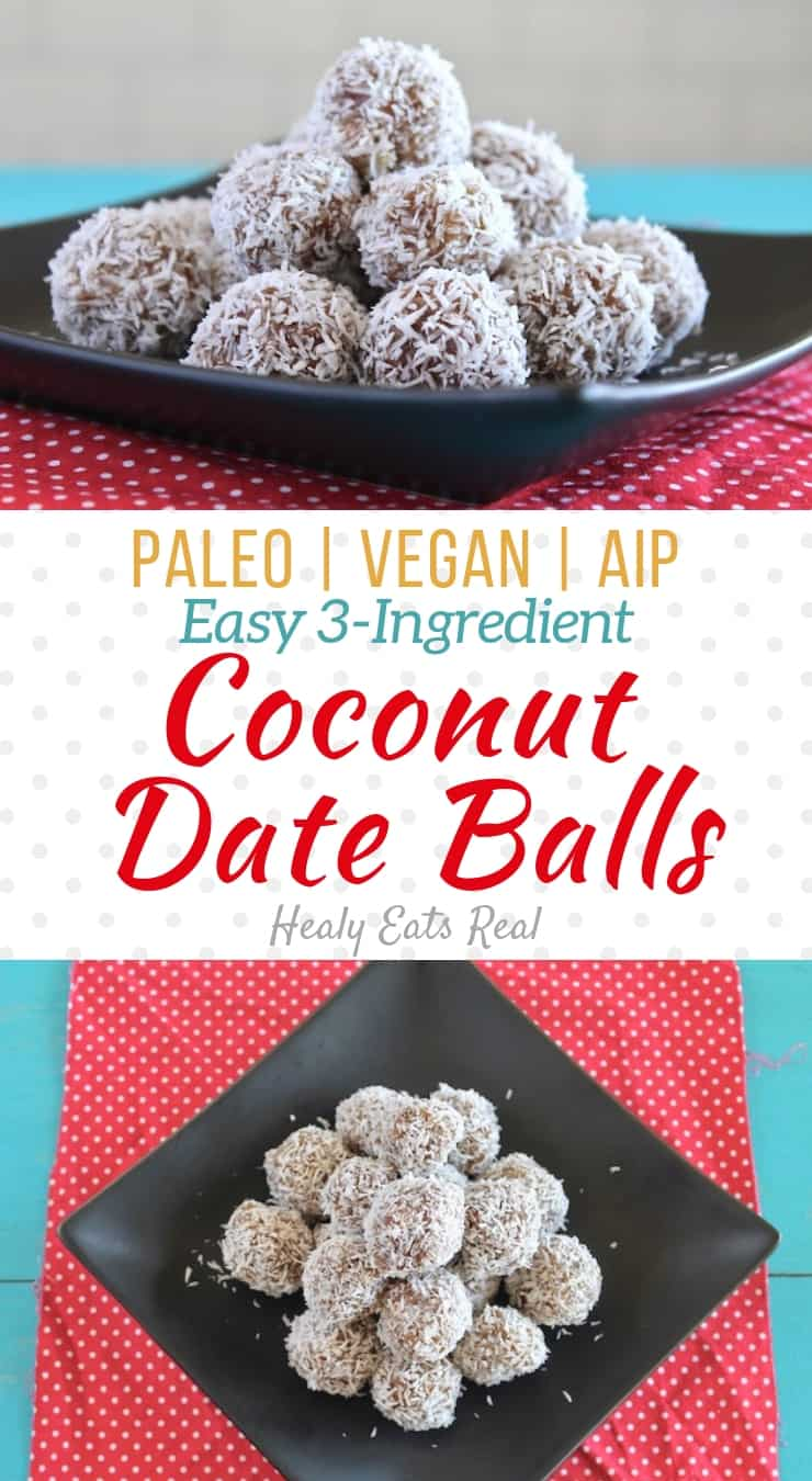 Easy No Bake Coconut Date Balls (Paleo, Vegan & AIP)