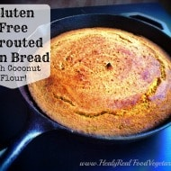 Gluten Free Sprouted Corn Bread (with coconut flour!)