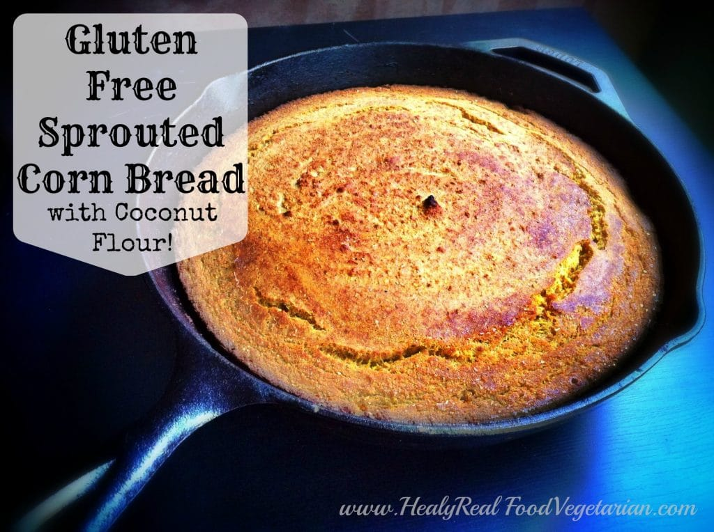 Gluten Free Sprouted Corn Bread (with coconut flour