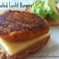 Sprouted Lentil Veggie Burger (dairy-free)