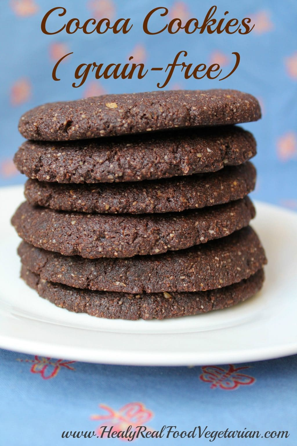 Cocoa Cookies (Paleo & Gluten Free)- These chocolatey cocoa cookies are like those big tasty cookies that you see at coffee shops that are just begging to be dipped into a cup of tea or coffee! These are grain-free and have a nice soft texture. Enjoy!