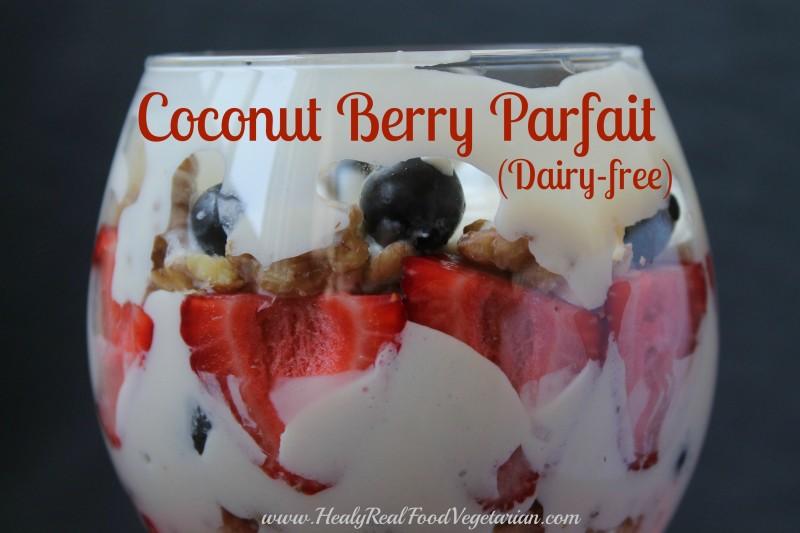 coconut berry parfait