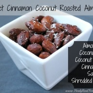 Sweet Cinnamon Coconut Roasted Almonds
