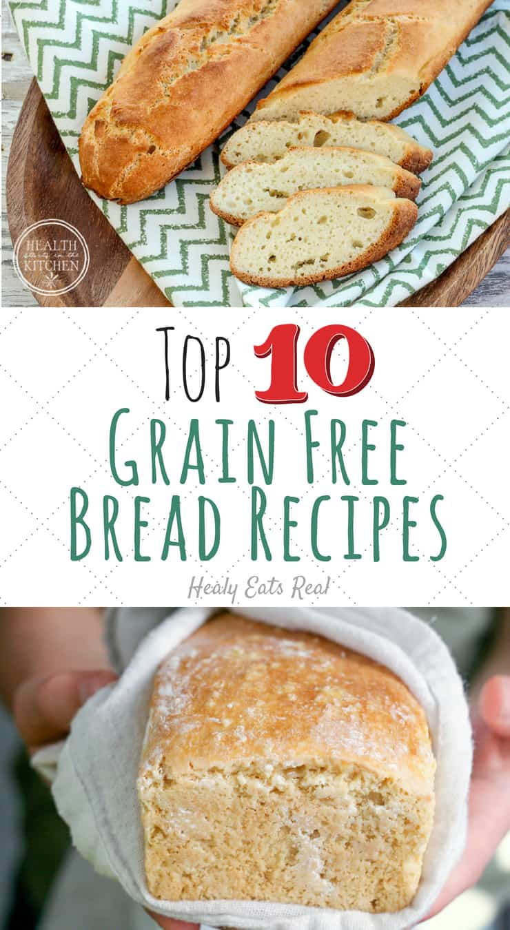 Top 10 Grain Free Bread Recipes That REALLY Taste Like Bread!- This collection of grain free bread recipes are some of the best you can find for fluffy and flavorful wheat free bread. If you are paleo or gluten free, look no further to satisfy your cravings! #grainfree #bread #paleo