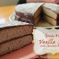 Grain Free Vanilla Cake with Chocolate Frosting