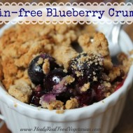 Grain-free Blueberry Crumble (vegan)