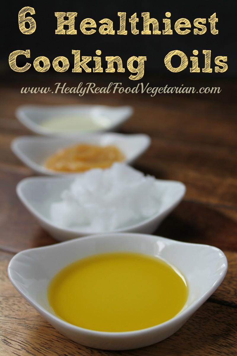 6 Healthiest Cooking Oils - I often get asked which are the healthiest cooking oils. Here's my guide to the 6 of the healthiest and why saturated and animal fats are not a bad thing. #oil #cooking #fats #healyeatsreal