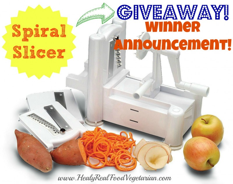 spiral slicer giveaway winner
