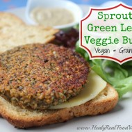 Sprouted Green Lentil Burger (vegan, grain-free)