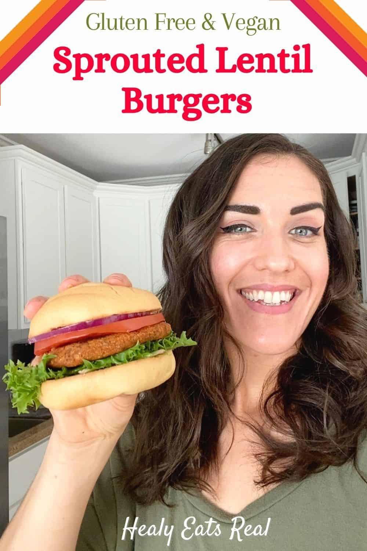Sprouted Lentil Burgers (Vegan & Gluten-Free)