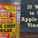 A close up photo of apple cider vinegar