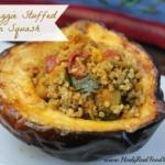 Quinoa Veggie Stuffed Acorn Squash
