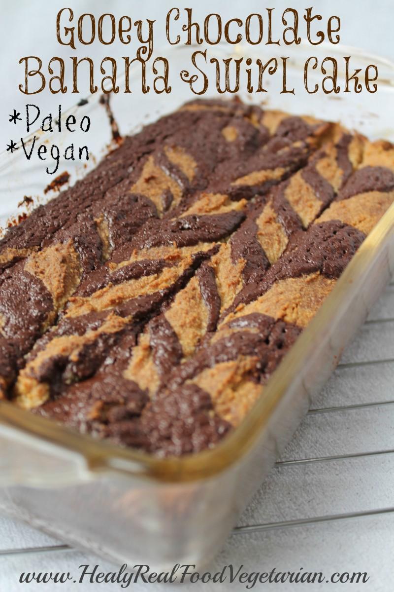 chocolate banana swirl cake