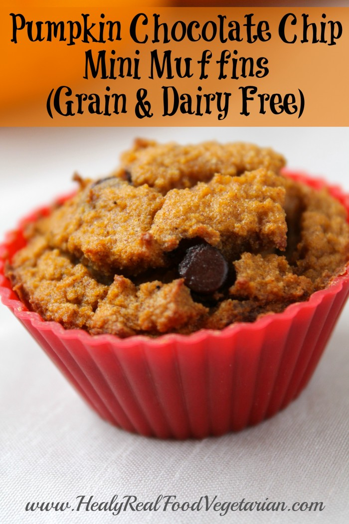Pumpkin Chocolate Chip Mini Muffins (grain-free, dairy-free) - Healy ...
