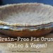 Simple Paleo & Vegan Pie Crust (Gluten Free)