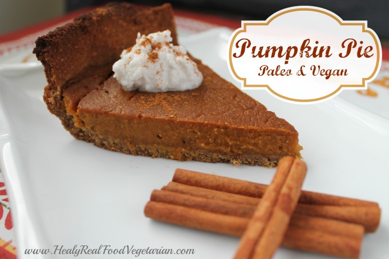 vegan pumpkin pie vegan paleo