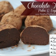 Rich Dark Chocolate Truffles (Paleo & Vegan)