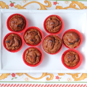 Pumpkin Banana Mini Flourless Muffins (Paleo, Vegan & Egg Free)