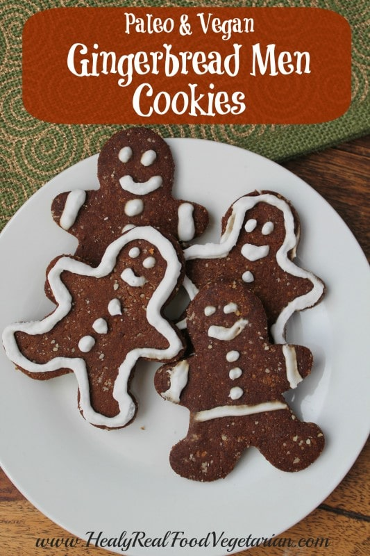 vegan gingerbread cookies pin