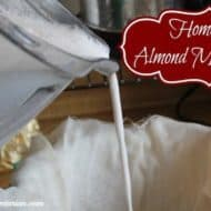 Simple Homemade Almond Milk Recipe