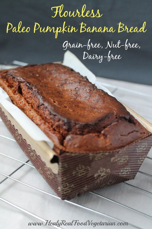 Paleo Pumpkin Banana Bread Recipe Pin