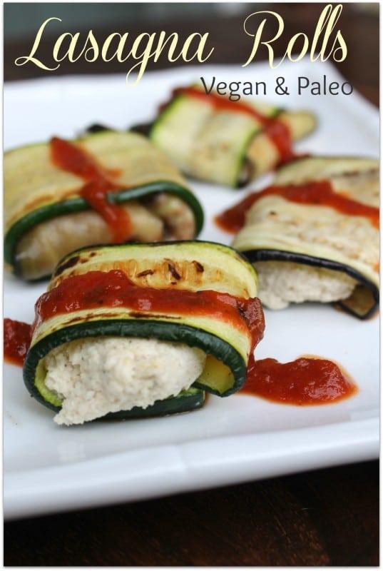 Lasagna Rolls Vegan & Paleo