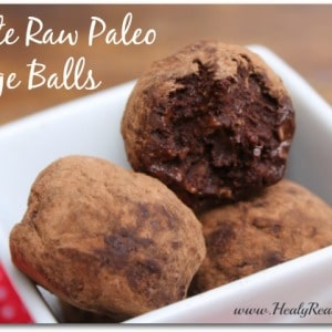 raw paleo fudge balls