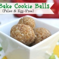 No Bake Paleo Cookie Balls (Egg-Free & Vegan)