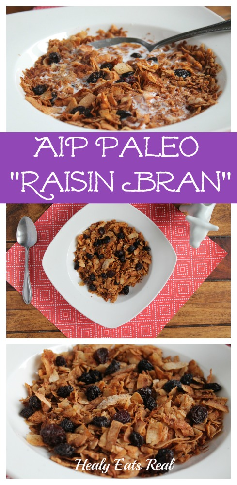 AIP Paleo Raisin Bran Recipe (Only 3 ingredients!)--This AIP Paleo