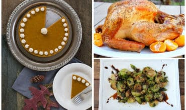 A collage image of autoimmune paleo holiday recipes