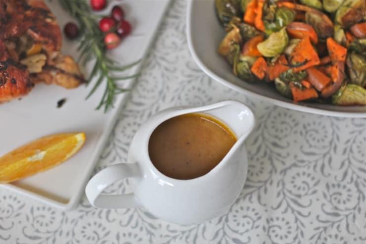 Autoimmune gravy in a white jug