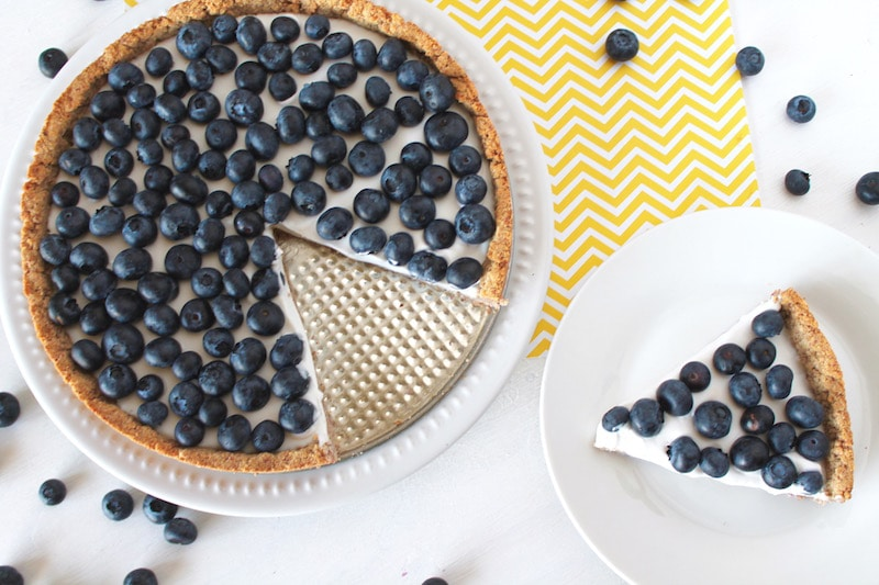 healthy blueberry tart