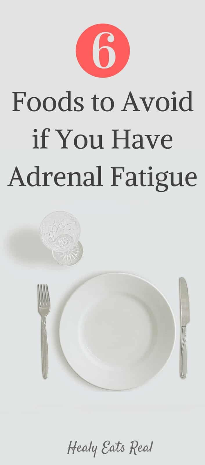 6 Foods to Avoid On An Adrenal Fatigue Diet- If you are aiming for an effective adrenal fatigue diet to help you recover, it is so important to avoid these six common foods. When you have adrenal fatigue the food that you eat can be either incredibly helpful for healing or very harmful.#adrenalfatigue #nutrition #health
