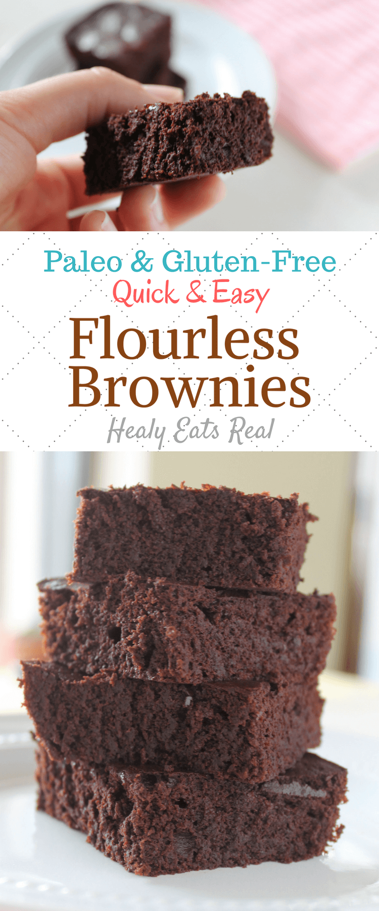 Amazing Healthy Flourless Brownies (Keto, Paleo, Gluten-Free)