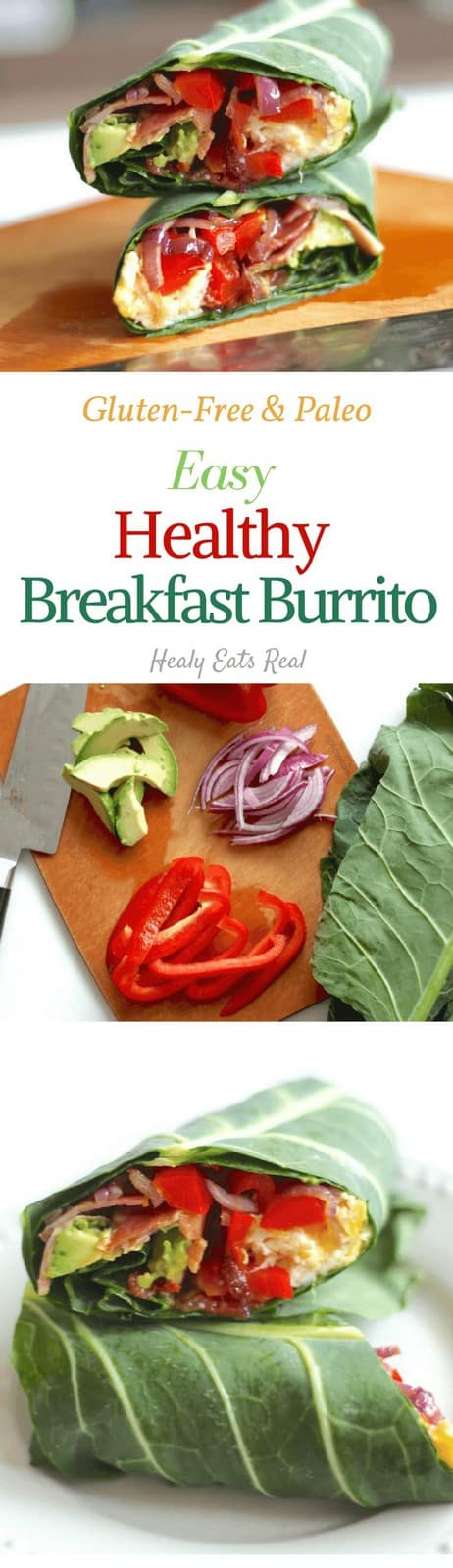 Healthy Breakfast Burrito (Paleo, Gluten-Free) - This healthy breakfast burrito is paleo, gluten free and the perfect antidote to a boring breakfast rut. It's an easy wrap that you can take on the go! #burrito #breakfast #healthy #glutenfree #healyeatsreal