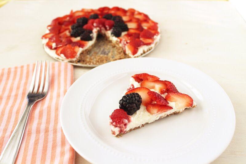 No Bake Fruit Tart Sugar Free