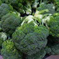 A close up shot of green broccoli