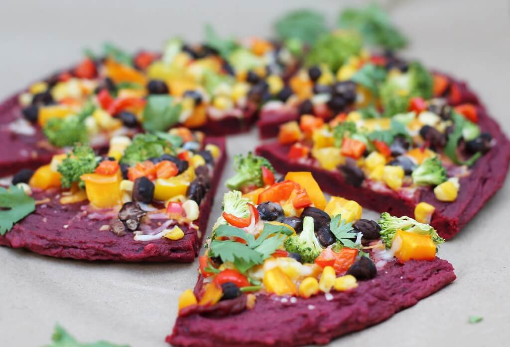 Healthy Pizza Crust Recipe-Beet Crust