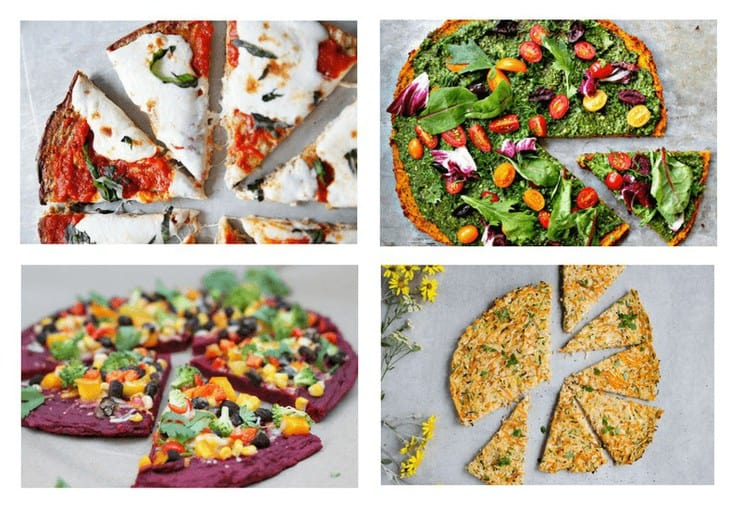 15 healthy pizza crust recipes made from vegetables gluten free a collage image of four healthy pizza crust recipes forumfinder Image collections