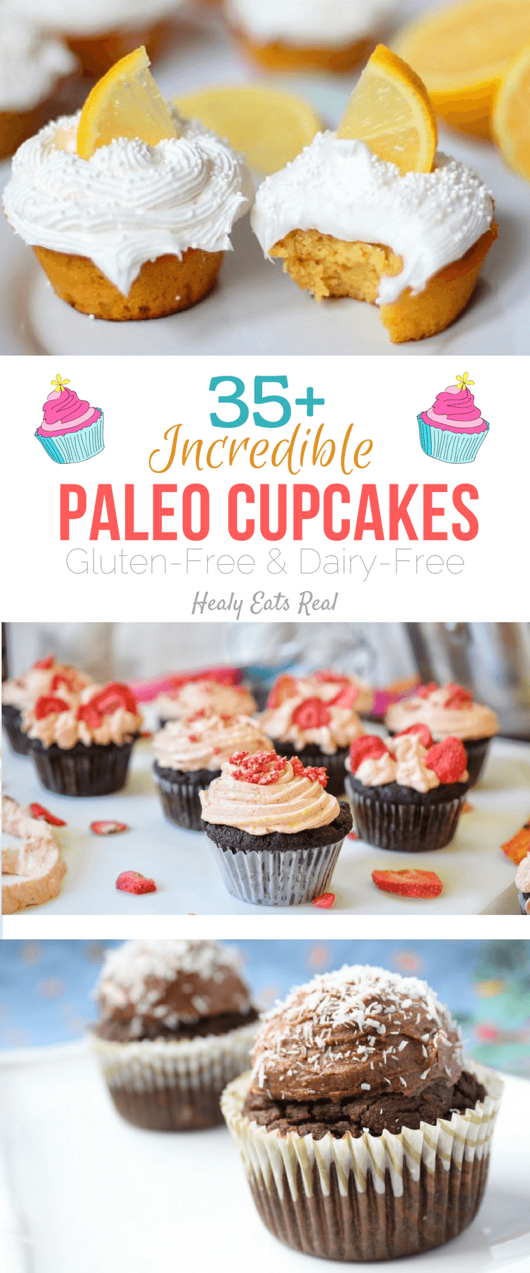 35+ Incredible Paleo Cupcakes (Gluten Free & Dairy Free)