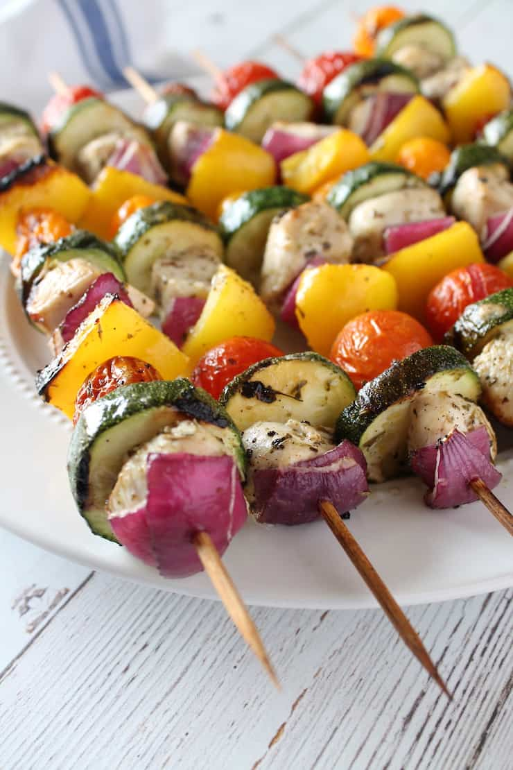 Easy Lemon Herb Chicken Kabob Recipe Paleo Keto