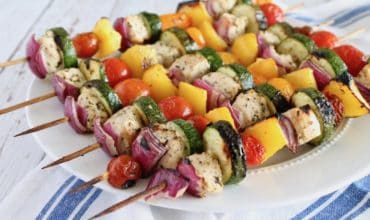 Lemon Herb Chicken Kabob Recipe (Keto & Paleo)