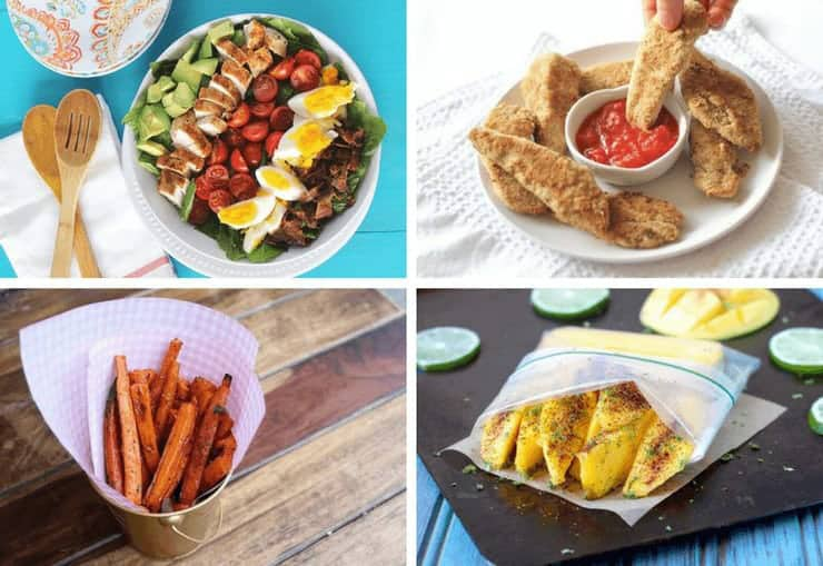 A collage image of four Healthy Picnic Recipes
