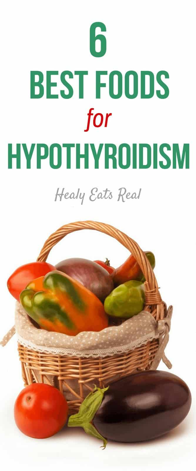 6 Best Foods for A Hypothyroidism Diet- Things can get a little confusing when figuring out which foods to eat for your hypothyroidism diet. These foods can help support an underactive thyroid.