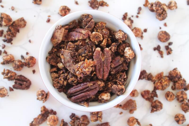 Cocoa Fig Homemade Granola Recipe Nuts