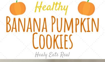 healthy banana pumpkin cookies stacked on top of each other