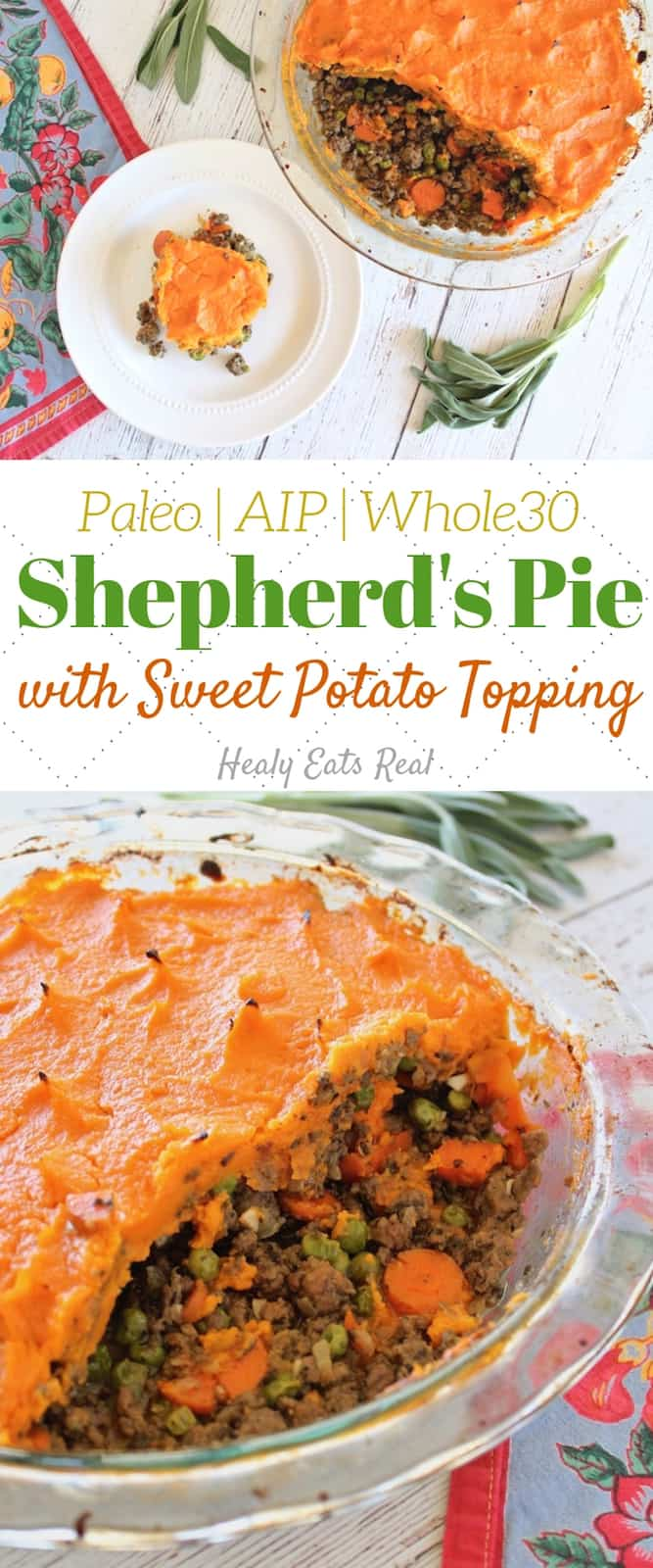 Shepherd\'s Pie Recipe with Sweet Potato (Paleo, AIP, Whole30)